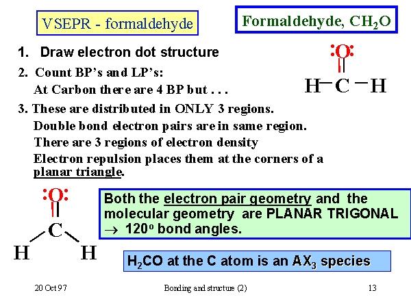 VSEPR - formaldehyde H2co Molecular Geometry